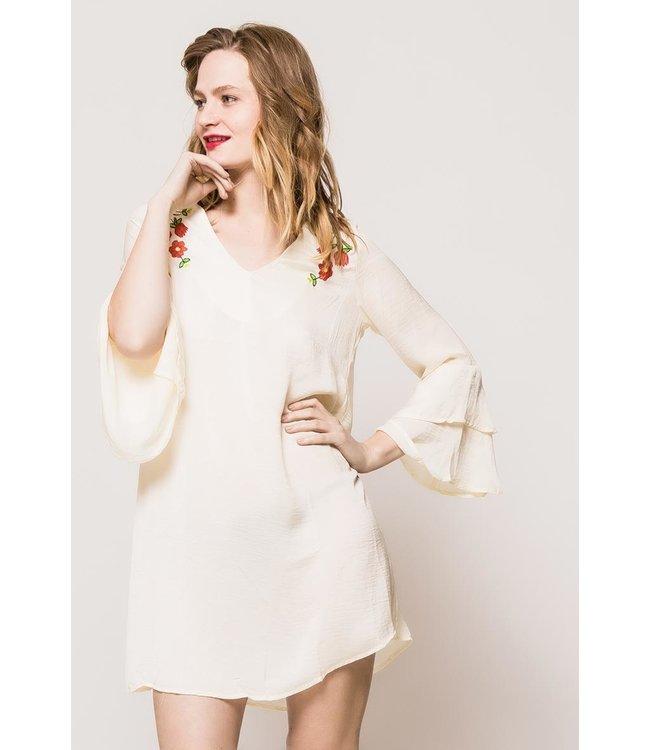 Satiny tunic - White