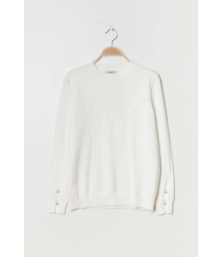 Ki&Love Soft sweater with pearls - White