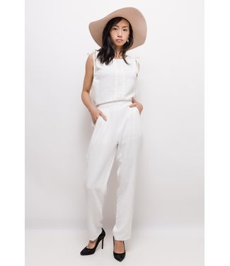 Jumpsuit with lace - White