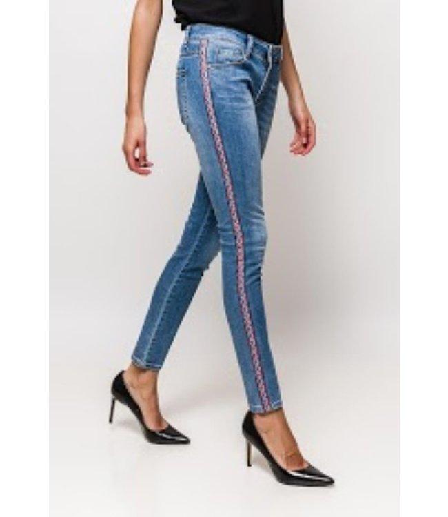 Jeans etnische stijl - Blauw