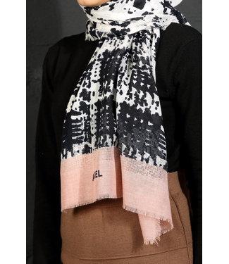 Akel Cotton scarf - Dark blue / Power