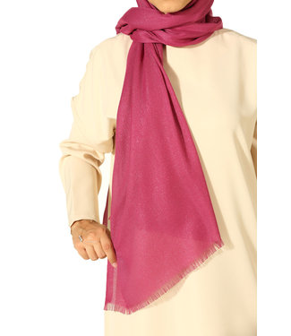 AYDIN Katoenen sjaal - Roodviolet