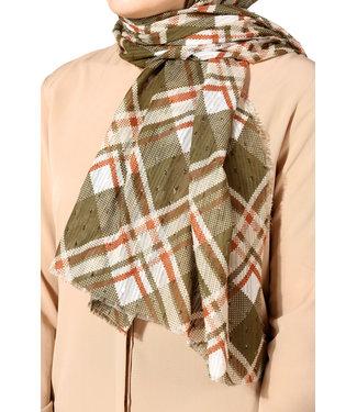 Plumetis cotton scarf - Khaki