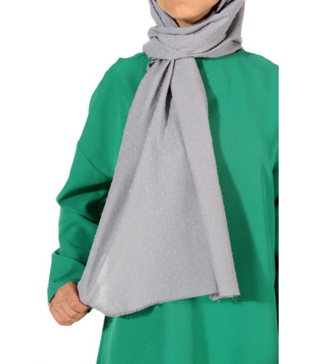 Plumetis scarf - Gray