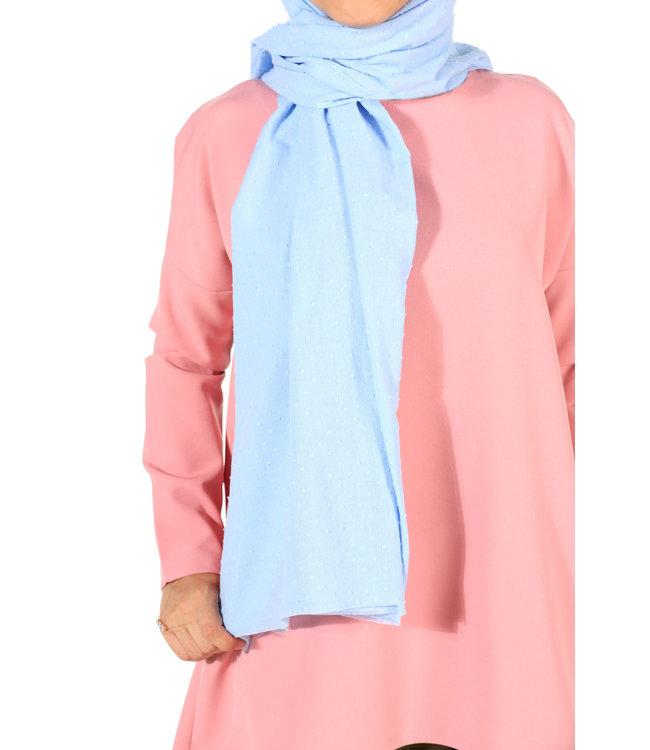 Plumetis sjaal - Baby blauw