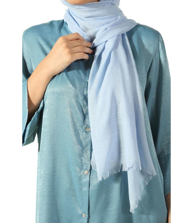 Katoenen sjaal - baby blauw