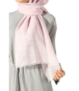 Akel Cotton scarf - Powder / Créam