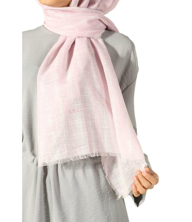 Akel Katoenen sjaal - Poeder/Créam