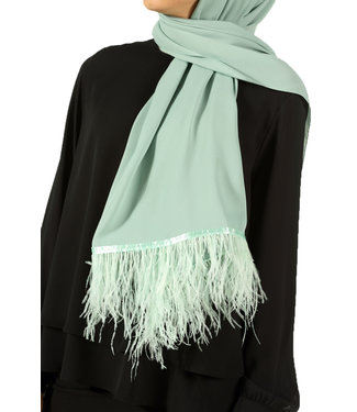 Feather scarf - Mint