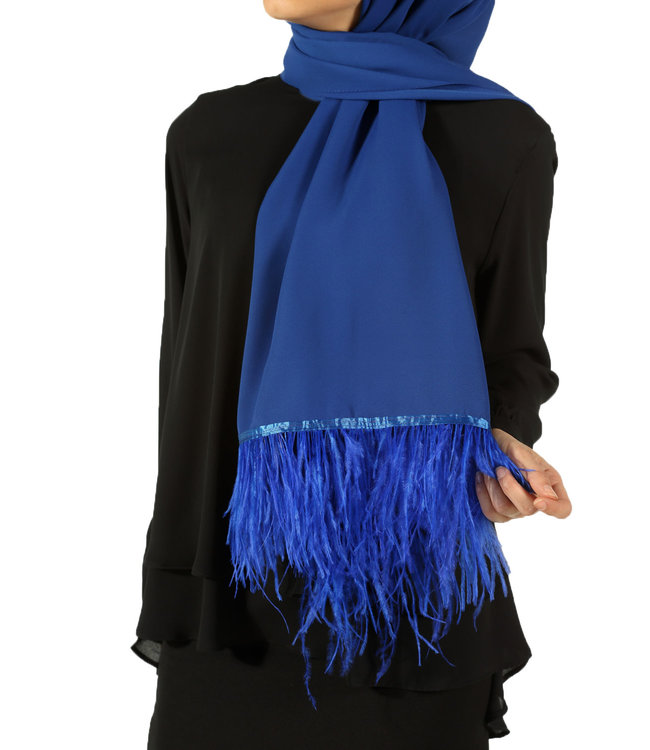 Esarp Feather scarf - blue