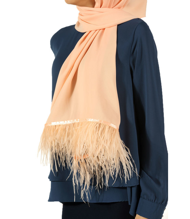 Esarp Feather scarf - Soft pink