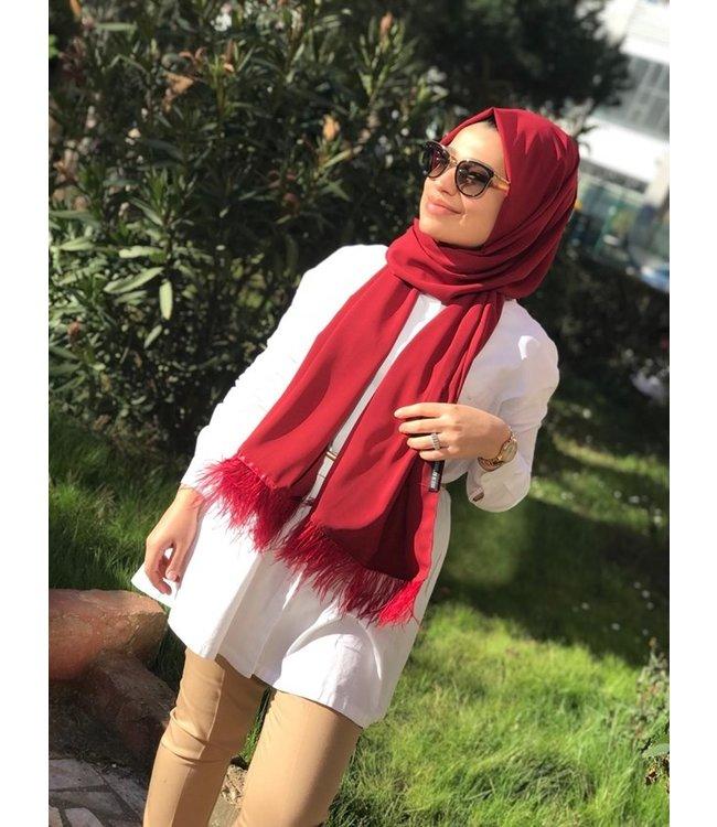 Esarp Home Feather scarf - Bordo