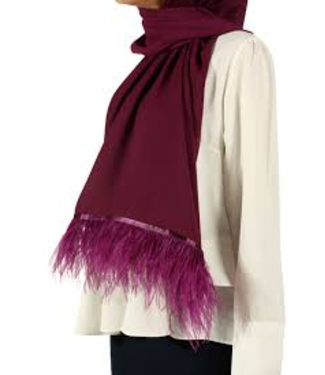 Esarp Home Feather scarf - Cherry