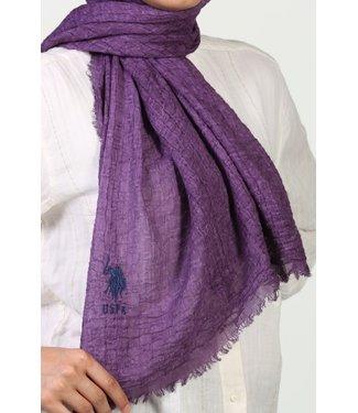 Katoenen gerimpelde sjaal - Paars