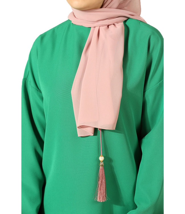 Chiffon scarf with tassels - Light Pink