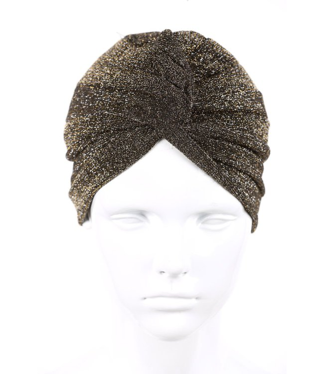 zilverachtige turban - Zwart/ Zilver