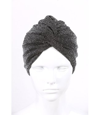 silvery turban - Black