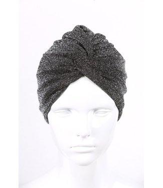 zilverachtige turban - Zwart