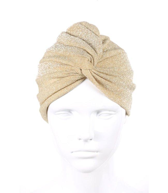 zilverachtige turban - Beige