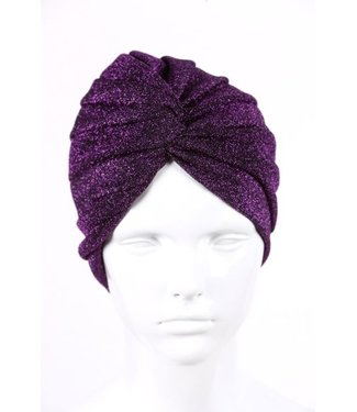 silvery turban - Purple