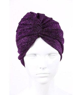 zilverachtige turban - Paars