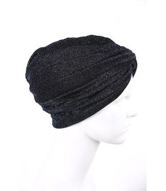 zilverachtige turban - Donkerblauw