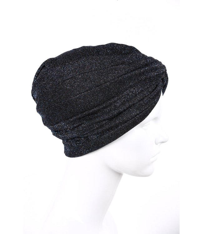 silvery turban - Dark blue