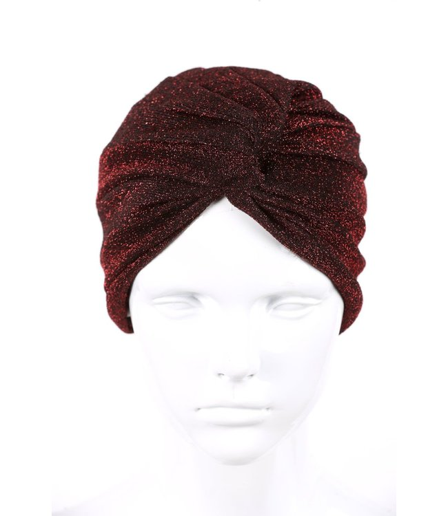 zilverachtige turban - Bordo
