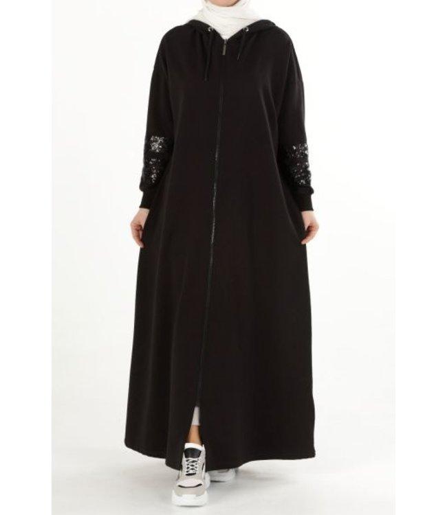 Comfortabele abaya - Zwart