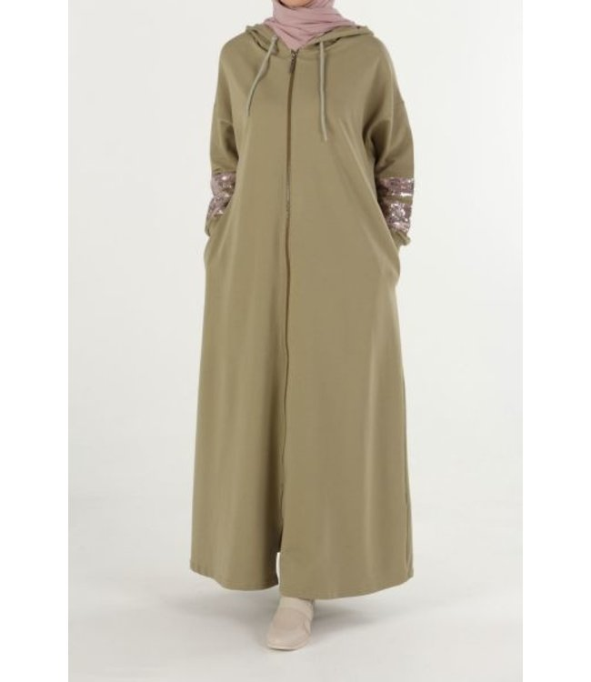 ALLDAY Comfortable abaya - Almond green