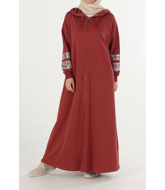 ALLDAY Comfortabele abaya - koraal
