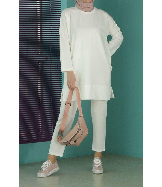 Hijab suit - ecru