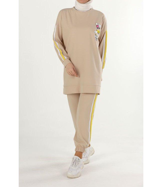 Hijab suit - Beige