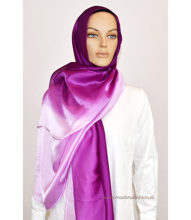 Sófani Silk scarf - Magenta / Plum