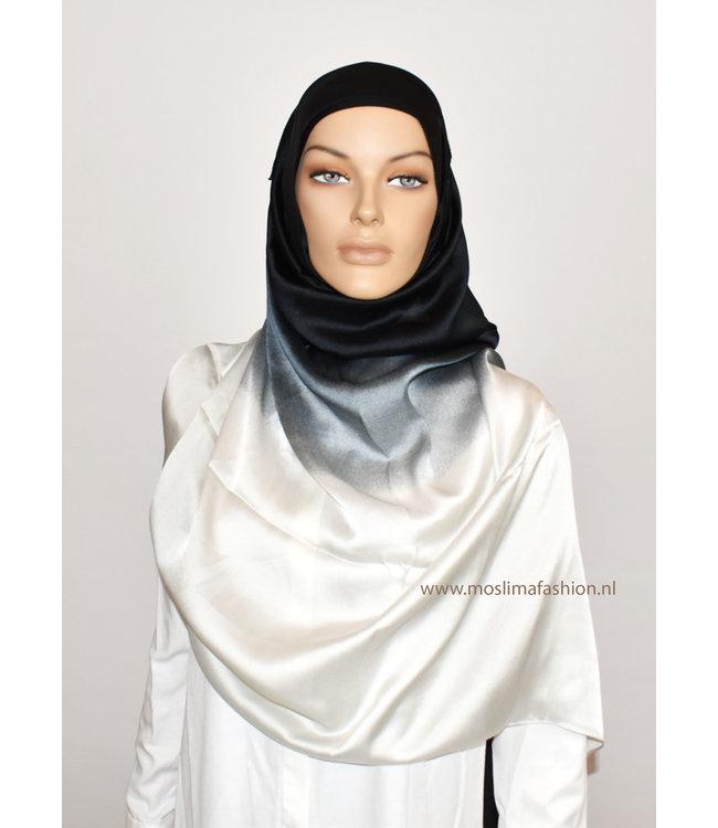 Sófani Zijde sjaal - Zwart/Wit