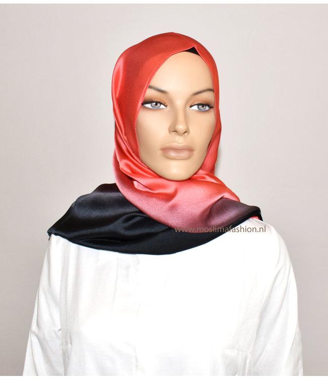 Sófani Silk scarf - Indian red / black