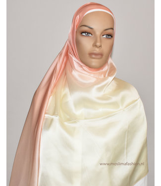 Sófani Silk scarf - Coral / Cream