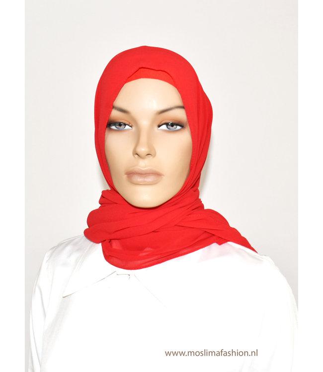 Sófani Chiffon sjaal - Rood