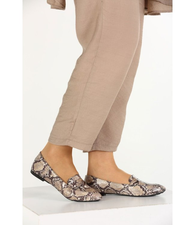 Loafers - Snake print