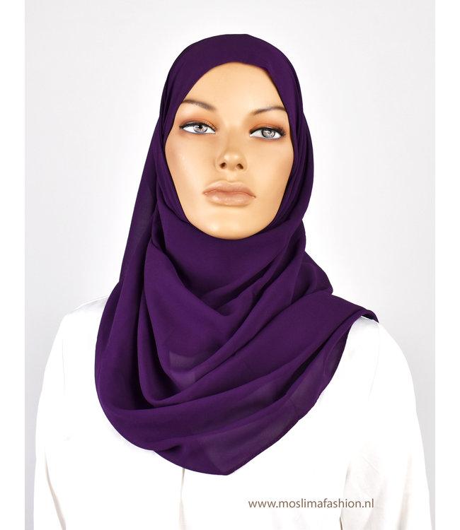 Chiffon scarf - Purple