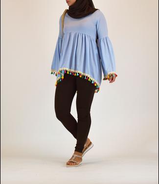 Outfit blouse met tassels