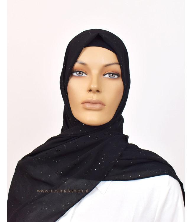 Sófani Chiffon sjaal - Zwart