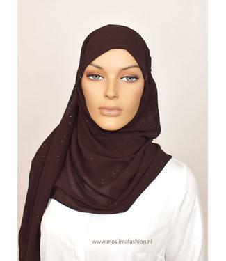 Sófani Chiffon scarf - brown
