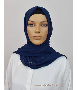 Sófani Chiffon sjaal - Donkerblauw