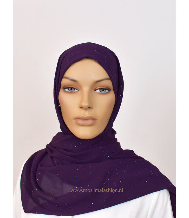 Chiffon sjaal - Paars