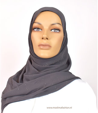 Sófani Chiffon scarf - Slate gray