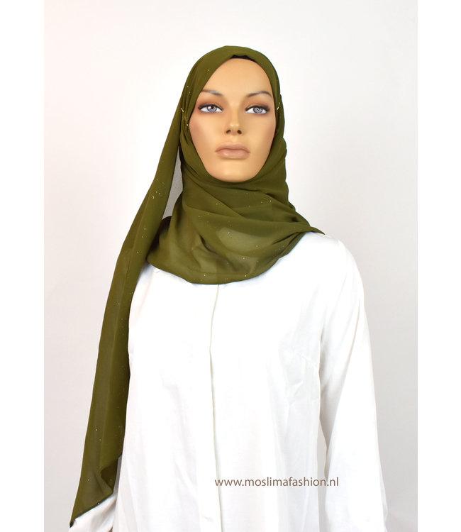 Sófani Chiffon scarf - yellow green