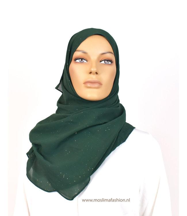 Sófani Chiffon scarf - Forest green
