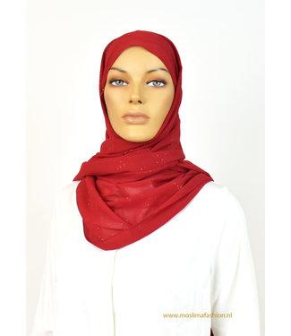 Sófani Chiffon sjaal - Donkerrood