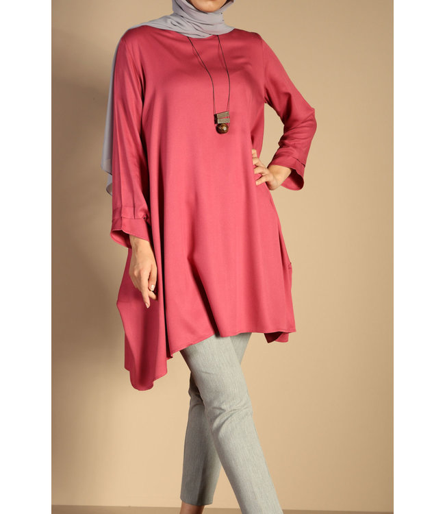 ALLDAY Tunic with chain - Carmine